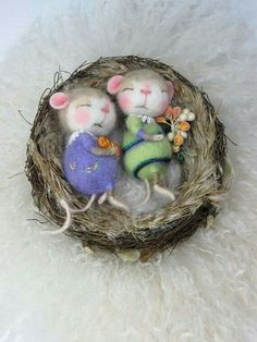 Cute little sleeping mice #cuteness #sleeping