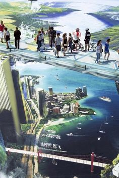 Currently on show in Lyon, the work covers an area of over 4000 square metres. | Giant 3-D Street Art Will Make You Feel A Little Weak At The Knees