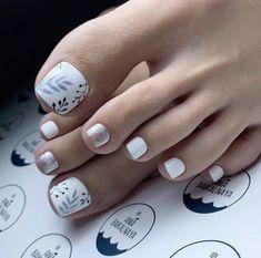 Feet Nail Design, Pedicure Nail Designs, Pedicure Nail Art, Toe Nail Designs, Pedicure Colors, Gel Toe Nails, Acrylic Toe Nails, Feet Nails, Toe Nail Art