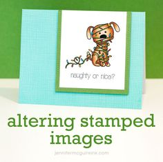 Altering Stamped Images Video by Jennifer McGuire Ink