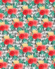 Patterned Bouquet III. #pattern #illustration