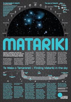 Matariki Poster (Matariki is known in English as the Plaeides & the arrival of Matariki signals the time to plant your vegetable garden in NZ) Home Learning, Preschool Activities, Waitangi Day, International Craft, Teaching Philosophy, Maori Designs, Outside Activities, Maori Art, Play Centre
