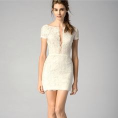 We are obsessed with this Little lace dress! Perfect for a rehearsal dinner, engagement party or you bachelorette weekend!  For more information email:  Tali@solutionsbridal.com