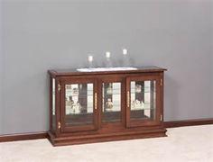 Amish Large Console Curio Cabinet