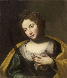 ANTONIO DE BELLIS ( Naples 1630 - 1656) ( attribuited). SAINT AGATA. oil on canvas. 60 × 52 cm. Farsettiarte. Prato. Old Paintings. 30/10/2015. Lot 173. Estimate: 15.000/ 20.000 €.