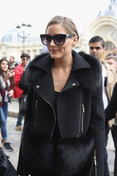 Actress/model Olivia Palermo attends the Elie Saab show as part of the Paris Fashion Week Womenswear Spring/Summer 2018 on September 30 2017 in Paris...