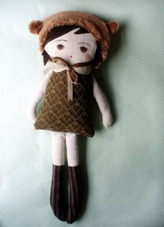 love this doll pattern from The Black Apple on etsy