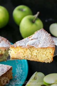 The BEST apple sharlotka cake we've tried. Just 5 ingredients and 15 min of prep then your oven does the rest! | @natashaskitchen