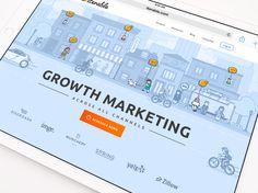 """Popatrz na ten projekt w @Behance: """"Iterable Website and Branding"""" https://www.behance.net/gallery/52285067/Iterable-Website-and-Branding"""