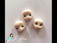 How to make a simply face doll tutorial polymerclay - face number one Polymer Clay Fairy, Polymer Clay Animals, Cute Polymer Clay, Polymer Clay Canes, Polymer Clay Miniatures, Cold Porcelain Tutorial, Chibi, Biscuit, Clay Fairies