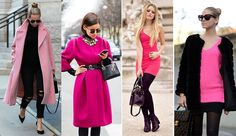 pink,fekete,divat,ruha,női,style Duster Coat, Pink, Jackets, Fashion, Down Jackets, Moda, Fashion Styles, Jacket, Fasion