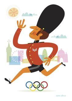 They're not allowed to smile let alone run in tiny shorts! The Beach Volleyball is to be held on Horse Guards Parade of all places!