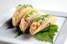 spicy crab tacos