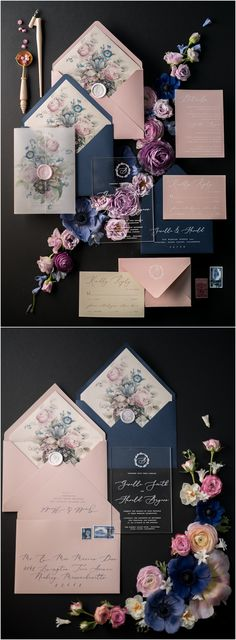Navy and pink vintage wedding invitations 01/ACGN/z #weddings #navywedding #pinkwedding #vintageweddings