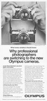 Olympus OM-2 35mm SLR 1977 Ad Picture