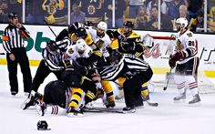 Giraffe attack! Payback will be a BICKS!  Game 3 - Hawks vs Bruins 2013 Stanley Cup Final