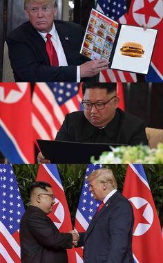 """Trump And Kim Jong Un's Meeting Was Spicy Dank Meme Gold - Funny memes that """"GET IT"""" and want you to too. Get the latest funniest memes and keep up what is going on in the meme-o-sphere. Dankest Memes, Funny Memes, Hilarious, Jokes, Funniest Memes, Fun Funny, Super Funny, Funny Animal Memes, Funny Animals"""