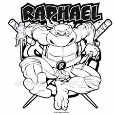 Teenage Mutant Ninja Turtles Raphael Coloring Pages