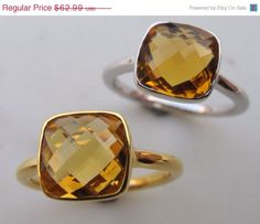 Hey, I found this really awesome Etsy listing at https://www.etsy.com/listing/191968172/sale-solitaire-citrine-ring-silver