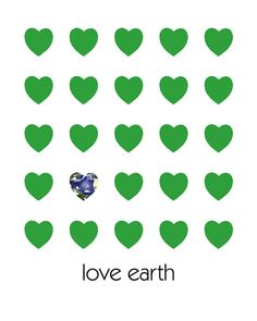 We are sending love and light into all of the earth today and everyday.  Love and Light   Earth Day Poster