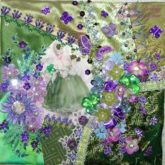 Crazy Quilting and Embroidery Blog by Pamela Kellogg of Kitty and Me Designs: Marie Antoinette Crazy Quilt Pillow
