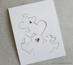 Upon a fold  Popcard hearts