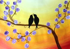 Love Birds Painting Party - Denver Metro At your place ! My ART Happens