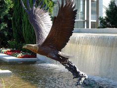 Bronze Eagle at the Crystal Cathedral by Dallas Anderson.