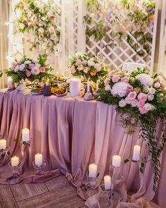 Lavender spring wedding color theme decorations for sweetheart tables. Photo by Wholesale Wedding/Event Decor on March 29, 2021. May be an image of cake, flower and indoor. Spring Wedding Decorations, Spring Wedding Colors, Birthday Decorations, Wedding Centerpieces, Lavender Wedding Theme, Lavender Decor, Purple Wedding, Lavender Color Scheme, Wholesale Tablecloths