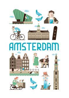 Als kunstposter koop op: https://www.catch-online.nl/kunstenaars/jochem-coenen #Amsterdam #poster #Holland