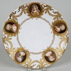 3258: Vienna porcelain hand-painted portrait plate : Lot 3258