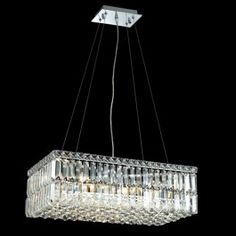 6 Light contemporary crystal chandelier Chrome plated