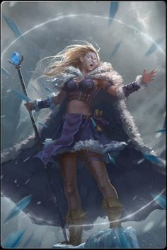 Female Warrior The Ice Mage