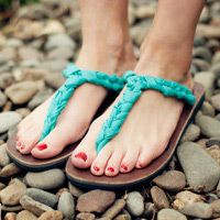Sandals from Uganda that you can wear hundreds of ways and help women get an education.