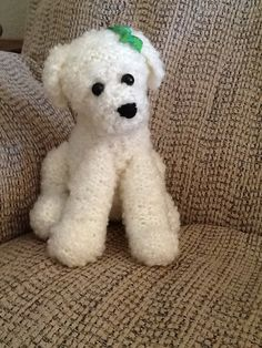 knitted poodle puppy