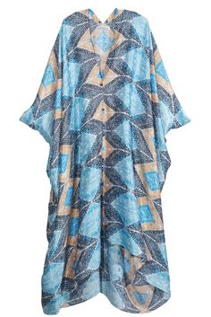 Take our quiz to discover your Spirit Print! Agave Dot Silk Caftan