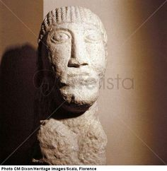 Celtic stone head, Salzburg, Austria, 1st century B.C. - 1st century > Celtic art  next  previous