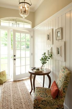 so inviting; like that the beadboard height goes to the top of the door