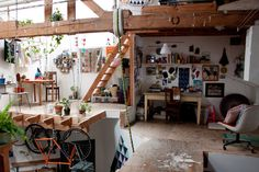 Perfect for a studio space!!  My Style: Local It Girl Rebecca Goldschmidt Shows Us Her Killer Oakland Pad