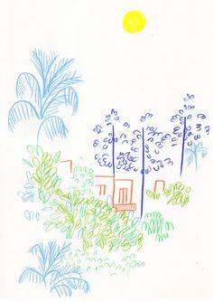 Liana Jegers' Doodles Keep It Fun and Simple Pretty Art, Cute Art, Illustrations, Illustration Art, Art Sketchbook, Art Inspo, Design Art, Art Projects, Art Drawings
