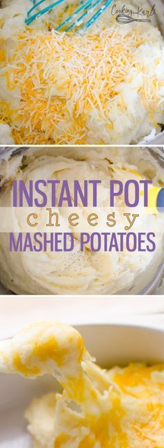 Instant Pot Cheesy Mashed Potatoes recipe is a very classic mashed potato dish. The potato really shines through and is the star in this recipe. The potatoes are pressure cooked for just 2 minutes, making these mashed potatoes the fastest side dish ever! |Cooking with Karli|
