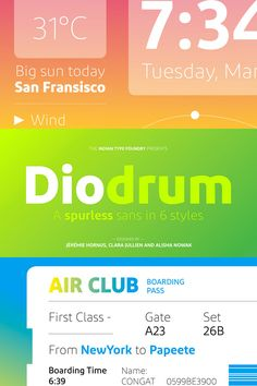 Diodrum, a friendly and modern sans serif type family in 6 styles from Indian…