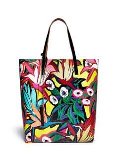 Marni Tropical Floral Canvas Tote - $360 on Lane Crawford