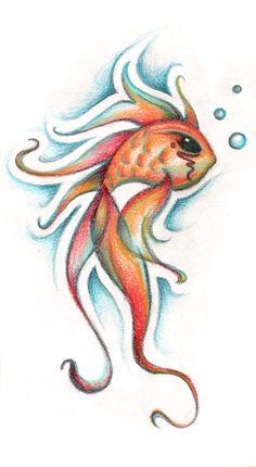 Goldfish by *RubyMoonDesign on deviantART