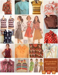 Vintage fall wardrobe DUDE!!!  My mom made these for me as a kid!!! ;)