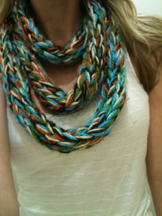 5 Color Finger Knit Scarf :)...My personal favorite.