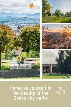 Discover the beauty of Swiss cities Switzerland Tourism, Park City, Cities, Relax, Lucerne, Urban, Bern, Basel, Ponds