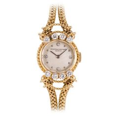 Vacheron & Constantin Lady's Yellow Gold and Diamond Wristwatch circa 1950s 1
