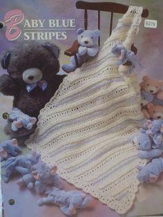 Baby Blue Stripes Afghan  Annie's Crochet & by CarolsCreations77, $1.50
