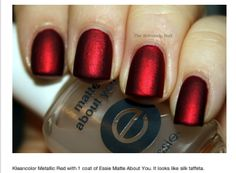Beautiful matte red nails-going to try this tonight with Zoya Blair!